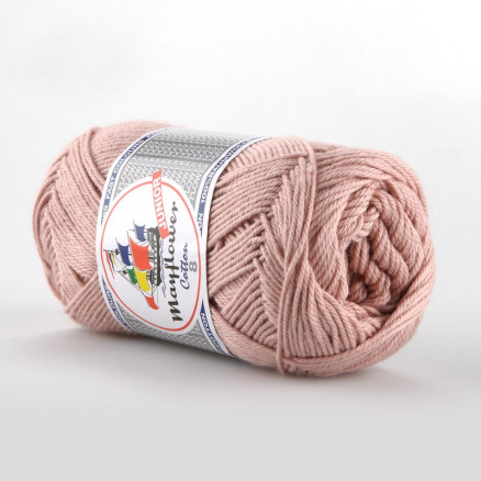 Image of   Mayflower Cotton 8/4 Junior Garn Unicolor 1489 Støvet Rosa