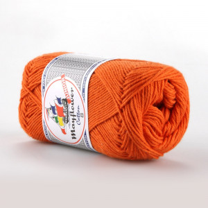 Mayflower Cotton 8/4 Junior Garn Unicolor 1494 Mørk Orange