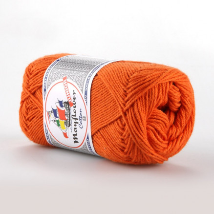 Image of   Mayflower Cotton 8/4 Junior Garn Unicolor 1494 Mørk Orange