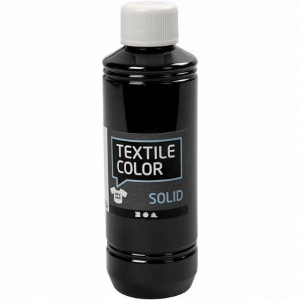 Textile Solid, sort, dækkende, 250ml thumbnail