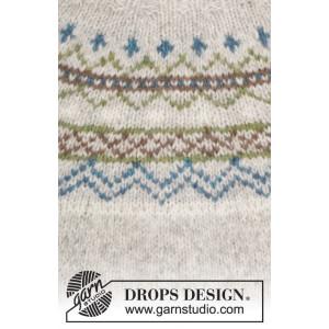 Sjona by DROPS Design - Bluse med nordisk mønster Strikkeopskrift str. S - XXXL