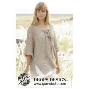Country Stroll by DROPS Design - Bluse Strikkeopskrift str. S - XXXL