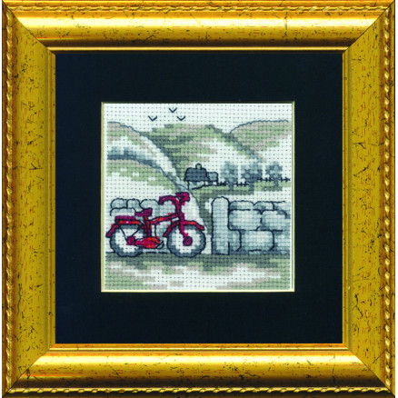Image of   Permin Broderikit Cykel 11x11cm
