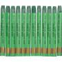 Gallery Akvarelkridt, tykkelse 8 mm, L: 9,3 cm, kadmium grøn (345), 12stk.