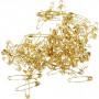 Sikkerhedsnåle, L: 19+22+28 mm, tykkelse 0,5-0,6 mm, guld, 600ass.