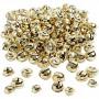Bjælder, diam. 13+15+17 mm, guld, 220ass.