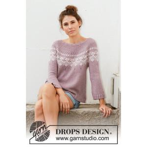 Rosewood by DROPS Design - Bluse Strikkeopskrift str. S - XXXL