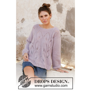 Sweet Topaz by DROPS Design - Bluse Strikkeopskrift str. S - XXXL