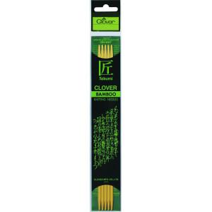Clover Takumi Strømpepinde Bambus 20cm 4,00mm