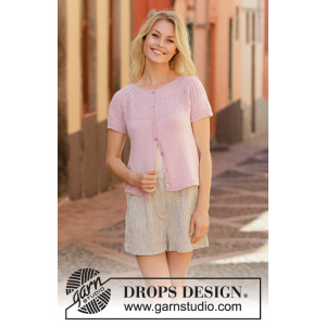 Soda Fountain Cardi by DROPS Design - Jakke Strikkeopskrift str. S - XXXL