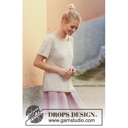Image of   Dandelion Dreams by DROPS Design - Top Strikkeopskrift str. S - XXXL