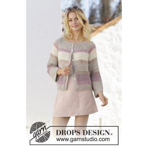 Rose Water Jacket by DROPS Design - Jakke Strikkeopskrift str. S - XXXL