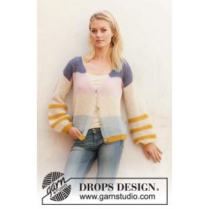 Mardi Gras Jacket by DROPS Design - Jakke Strikkeopskrift str. S - XXXL