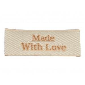 Label Made With Love Sandfarve