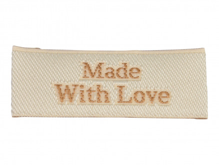 Image of   Label Made With Love Sandfarve