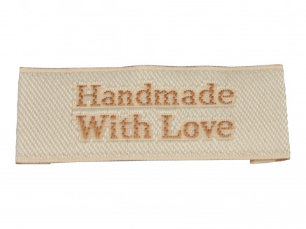 Image of   Label Handmade With Love Sandfarve