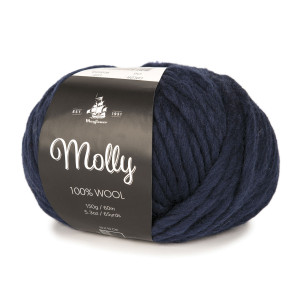 Mayflower Molly Garn Unicolor 06 Marineblå