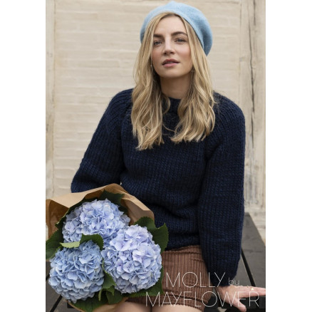 Image of   CarlaSweateren Molly by Mayflower - Sweater Strikkeopskrift str. S -XX