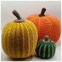 Tofarvet Halloween Græskar af Rito Krea - Græskar Hækleopskrift