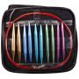 Infinity Hearts Udskiftelige Rundpindesæt Rød 60-120cm 2,75-10mm - 13 størrelser