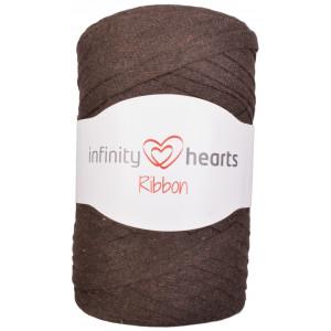 Infinity Hearts Ribbon Stofgarn 10 Mørkebrun