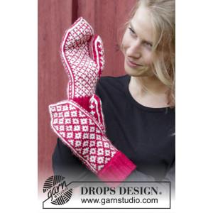 Christmas Magic Hands by DROPS Design - Vanter Strikkeopskrift One-size