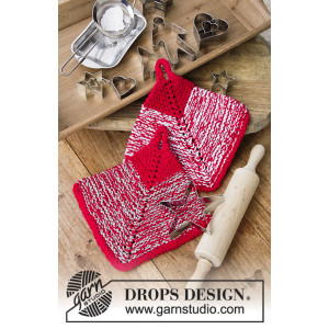 Let's Bake by DROPS Design - Grydelapper Strikkeopskrift 18x18 cm