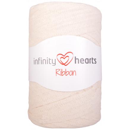 Infinity Hearts Ribbon Stofgarn 03 Natur thumbnail