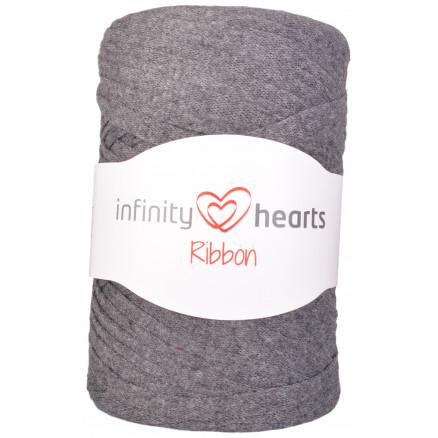 Infinity Hearts Ribbon Stofgarn 06 Mørkegrå thumbnail