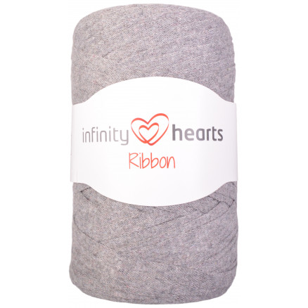 Infinity Hearts Ribbon Stofgarn 05 Grå thumbnail