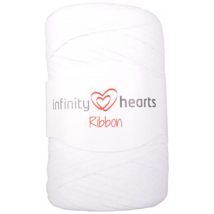 Infinity Hearts Ribbon Stofgarn 01 Hvid thumbnail