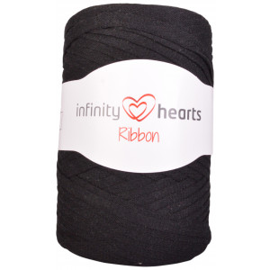 Infinity Hearts Ribbon Stofgarn 02 Sort