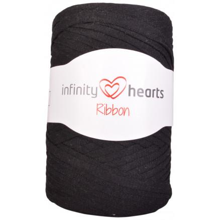 Infinity Hearts Ribbon Stofgarn 02 Sort thumbnail