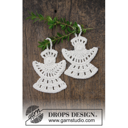 Frozen Angels by DROPS Design - Engel Hækleopskrift 10x8 cm thumbnail