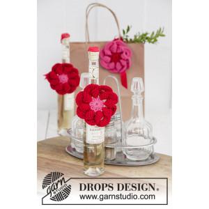 Festive Flowers by DROPS Design - Blomst Hækleopskrift Ø 8 cm