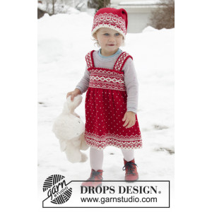 Miss Cookie by DROPS Design - Dress Strikkeopskrift str. 6 mdr-6 år