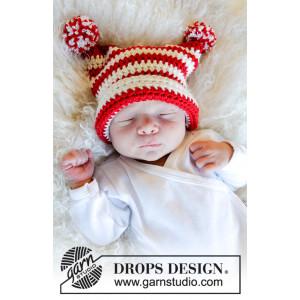 Tiny Elf by DROPS Design - Hue Hækleopskrift str. 0 mdr-4 år