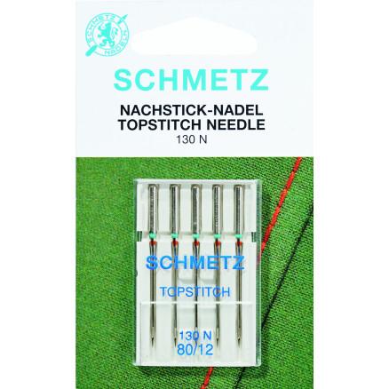 Schmetz Symaskinenåle Topstich 130N Str. 90 - 5 stk thumbnail