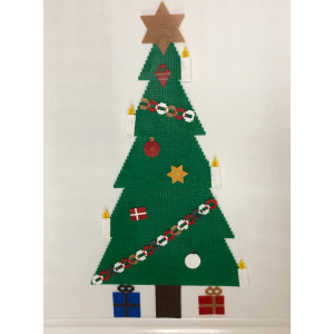 Juletræ med pynt Julemønster af Rito Krea - Perlemønster Jul 58-72-87cm