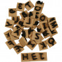 Skumstempler, str. 3x3 cm, tykkelse 13 mm, 42stk.
