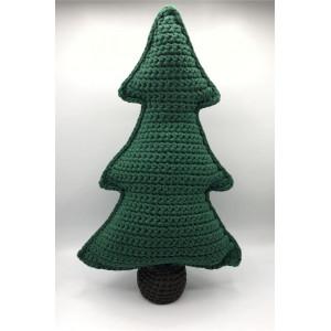 Juletræ i stofgarn af Rito Krea - Julepynt Hækleopskrift 50cm