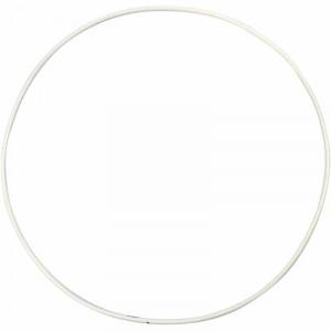 Metalring Hvid 20 cm - 5 stk