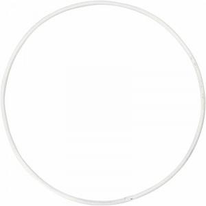 Metalring Hvid 10 cm - 10 stk
