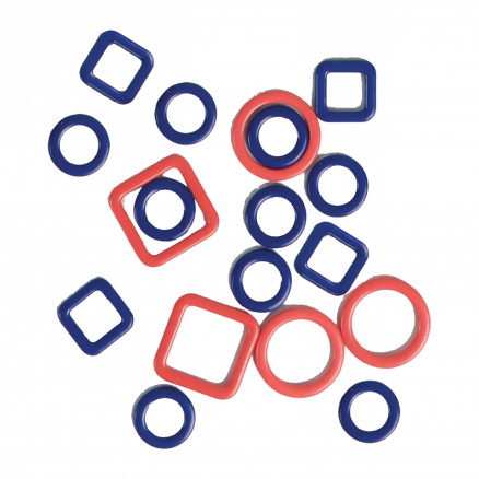 Image of   KnitPro Linea Maskemarkører til Magnetisk Halskæde - 40 stk