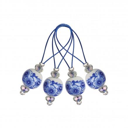 Image of   KnitPro Zooni Maskemarkører/Markeringsringe Blooming Blue - 12 stk