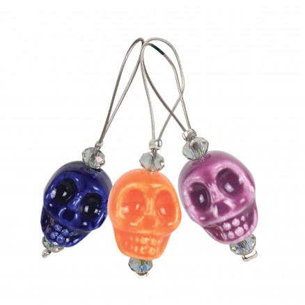 Image of   KnitPro Zooni Maskemarkører/Markeringsringe Skull Candy - 12 stk