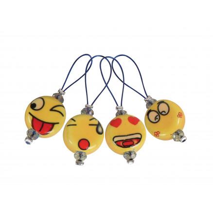 Image of   KnitPro Zooni Maskemarkører/Markeringsringe Smileys - 12 stk