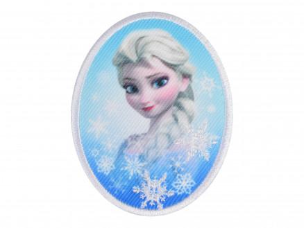 Image of   Disney Frost Strygemærke Elsa Rund 6x7 cm - 1 stk