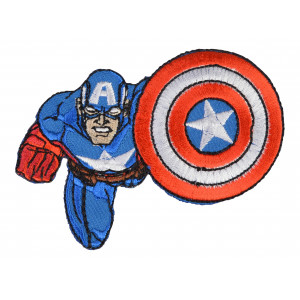 Marvel Captain America Strygemærke 8x8,5 cm - 1 stk