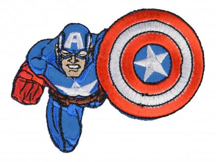 Image of   Marvel Captain America Strygemærke 8x8,5 cm - 1 stk